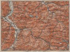 BAD RAGAZ PRÄTIGAU MONTAFON ENVIRONS. Wangs Rätikon Bludenz Maienfeld 1911 map