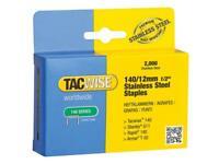 Tacwise TAC1220 140 Acciaio Inox Graffette 12mm (Confezione 2000)