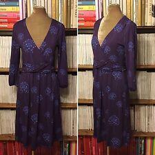 BODEN purple blue dandelion print jersey dress UK 14R / US 10R