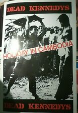 RARE DEAD KENNEDYS HOLIDAY IN CAMBODIA VINTAGE PUNK MUSIC RECORD PROMO POSTER