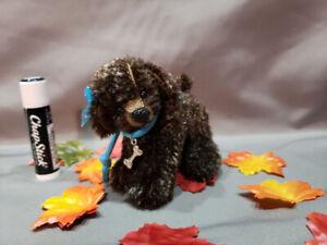 """HANDMADE ARTIST MOHAIR MINIATURE BEAR By - Bobbisbears 3"""" DOG"""