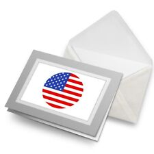 Greetings Card (Grey) - Cool USA Flag Map  #9030