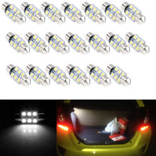 20X 31mm 1210 6SMD LED Car Dome LED Double-Tip Lamp License Plate Light Bulb