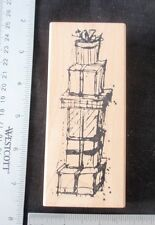 Stacked Packages (Gifts),  by Art Impressions Rubber Stamp Mounted