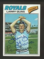 Larry Gura Signed Auto 1977 Topps #193 Baseball Card Autograph