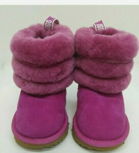 UGG Toddler/Baby Fluff Mini Quilted Fuchsia Boots 1103612 Size 6