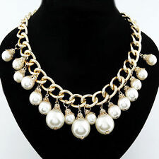Modeschmuck-Halsketten & -Anhänger im Collier-Stil aus Perlen und Legierung