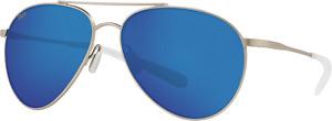 Costa Del Mar Piper Polarized Sunglasses Velvet Silver Blue Mirror 06S6003