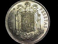 5 pesetas 1949 50 Francisco Franco Estado Español (C4) Spain coin