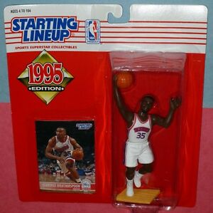 1995 CLARENCE WEATHERSPOON Philadelphia 76ers NM+ Rookie sole Starting Lineup
