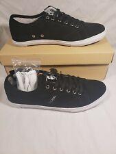 New- Tennis Shoes Vlado :DELA Men's size10  suede Blk/wht Shoes- 2 laces blk/wht