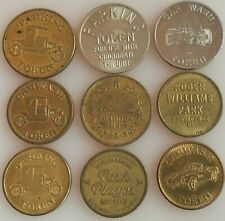 9 Car Wash Tokens Plus Parking Amusement LOOK!!