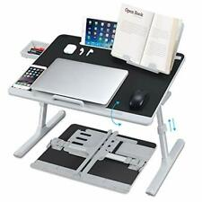 New listing Laptop Desk for Bed, Nearpow Xxl Bed Table Bed Desk for Laptop and Writing