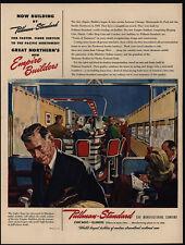 1946 PULLMAN STANDARD - Empire Builders - Coffee Shop - Train Car - VINTAGE AD