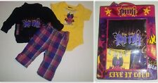 Blac Label Baby Girl's Jacket, Bodysuit & Pants 3-Piece Set in Gift Box, Sz 0-6M