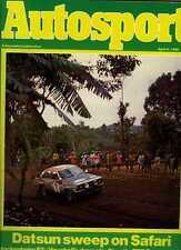 AUTOSPORT APRILE XVII 1980 * SAFARI RALLY & TRIUMPH TR7 Prova su strada *
