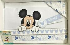 Set 3pz completo Culla carrozzino Neonato in cotone Disney Mickey Mouse