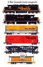 Rio Grande Locomotives and Train 6 magnet set Andy Fletcher