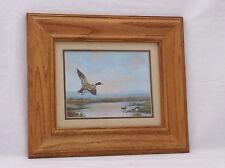 "Vintage F. Osborne ""Mallard Ducks Evening-8 x 6""-14.5 X 12.5 Foil/Signed/Framed"