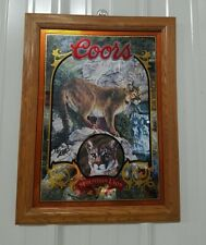 Coors Beer Mirror Sign Mountain Lion Wildlife Series 21x16