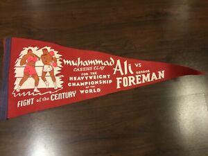 Vintage Felt Boxing Pennant Fight of the Century Muhammad Ali / George Foreman