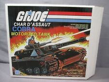 GI Joe CHAR D'ASSAUT COBRA MOTORIZED TANK BLACK MOBAT 1984 Canadian M.O.B.A.T.