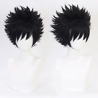 Anime Cartoon Characters Dabi Black Wig Wavy Hair Fans Cosplay Exhibition PRKCMR