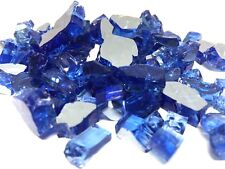 "10 LBS 1/2"" SAPPHIRE(COBALT BLUE) REFLECTIVE ,Fireplace,Fire Pit Glass Rocks"