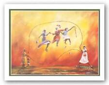 Golden Girls Jump Rope Charles Rogers African American Art Print 20x16