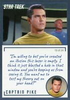 Star Trek TOS Archives & Inscriptions card #10 Captain Pike Variation 19 of 24