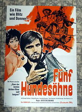FÜNF HUNDESÖHNE / Bootleggers * A1-FILMPOSTER - Ger 1-Sheet 1969 GEORGE EASTMAN