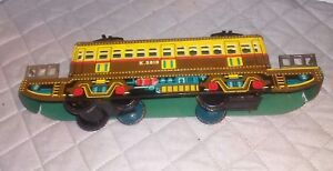 Vintage 1950's Tin Litho Union Pacific EF-587 Friction Asahi Toy Train Japan
