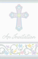 Blessed Day Cross Baptism, Christening Party Invitations 8 ct