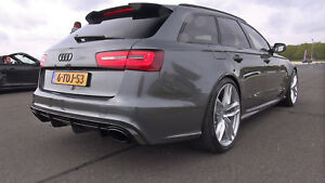 Rear Door GENUINE Roof Extention RS6 Spoiler For Audi A6 S6 C7 4G