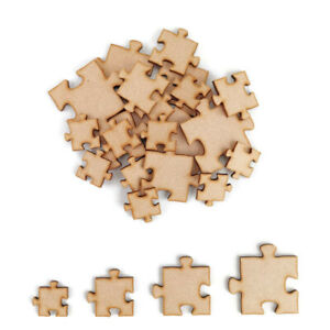 Puzzle piece MDF Craft Shapes Wooden Blank Wedding Embellishment jigsaw Pack