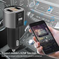 Handsfree Wireless Bluetooth FM Transmitter MP3 Player Radio Adapter USB Charger