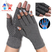 Copper Anti Arthritis Compression Therapy Gloves Hand Support Rheumatoid Pain SF