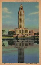 Postcard State Capitol Building Lady of the Lake Baton Rouge Louisiana