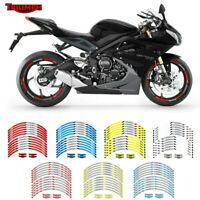 12PCS 17 inch Motorcycle Wheel Rim Decals Tape Stripes Stickers For TRIUMPH #P