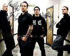 Volbeat Group Signed 8X10 Photo Rp Michael Poulsen Bredahl Larsen Kjølholm All 4