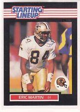 1989 Eric Martin - Kenner Starting Lineup Card - New Orleans Saints
