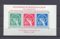 Berlin Block 1 III Währungsgeschädigte Plattenfehler postfrisch (ct150)