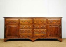 Quality Antique Reproduction Solid Oak 7ft Dresser Base / Sideboard - 10 Drawers