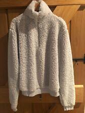 Grey Teddy Fleece Top by TopShop - Size 10