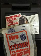 NEW Snow Tire Chains FREE ADJUSTERS P45/40R17 P245/40-17                  car 8