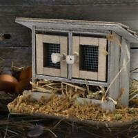 Garden Miniature  Chicken Coop Hen House for 1/12 Doll House Accessories BPLA❤lo