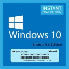 Windows 10 Enterprise Vollversion 32/64bits Produktkey Instant Delivery  5s