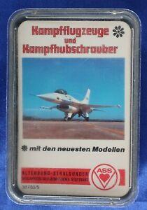 Kampfflugzeuge u. Kampfhubschrauber Quartett,  Artikelnummer 38783/5, ASS, 1975