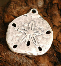 Sand Dollar Pendants or Big Charms in Sterling Silver, 30D