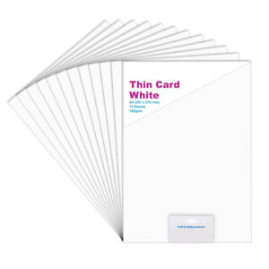 12 A4 White Card Sheets for Crafts - 160gsm
